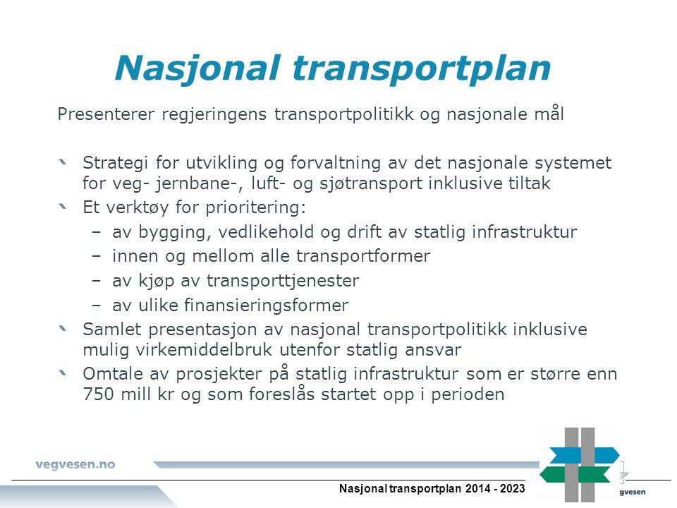 Nasjonal transportplan Nasjonal transportplan 2014 - 2023
