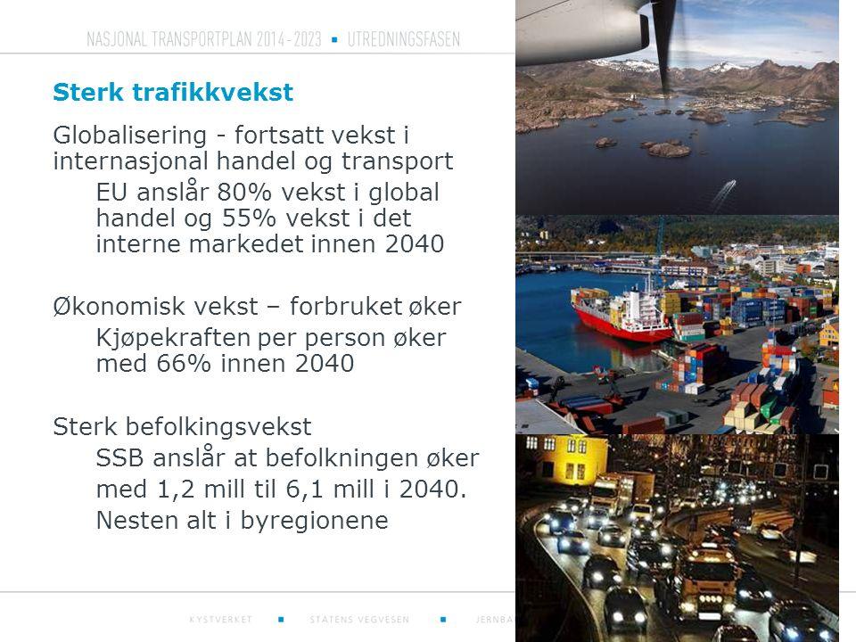 Globalisering - fortsatt vekst i internasjonal handel og transport