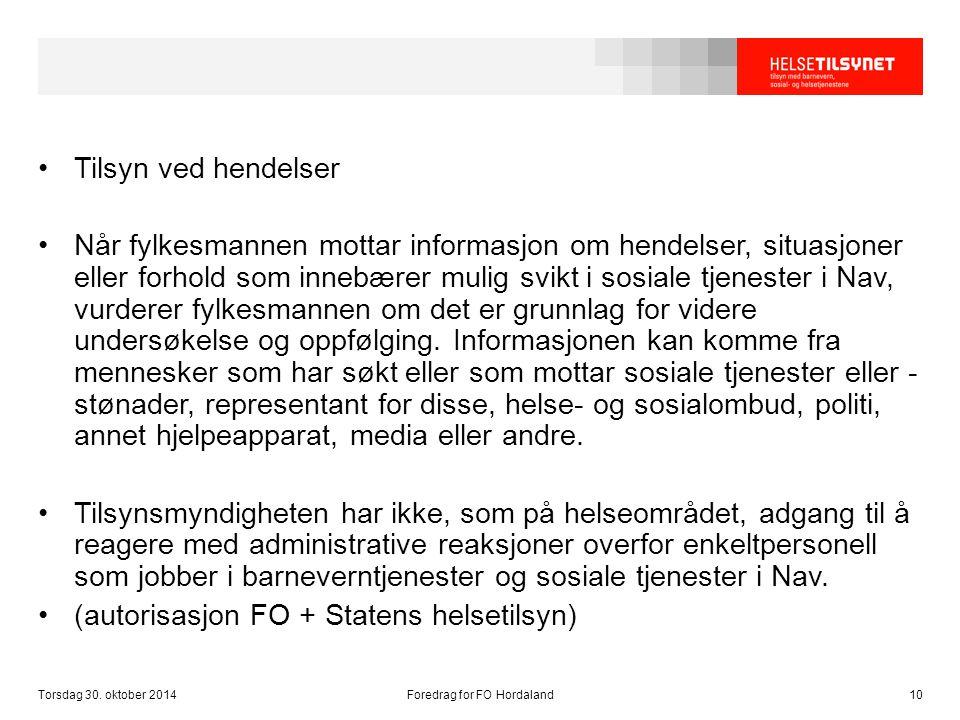 Foredrag for FO Hordaland
