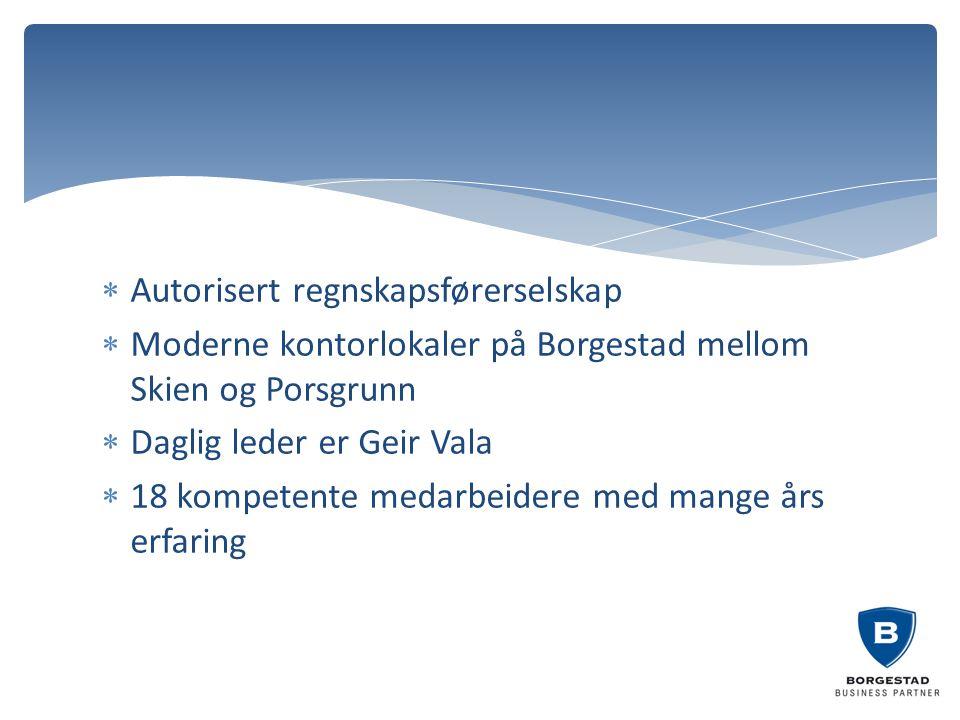 Autorisert regnskapsførerselskap