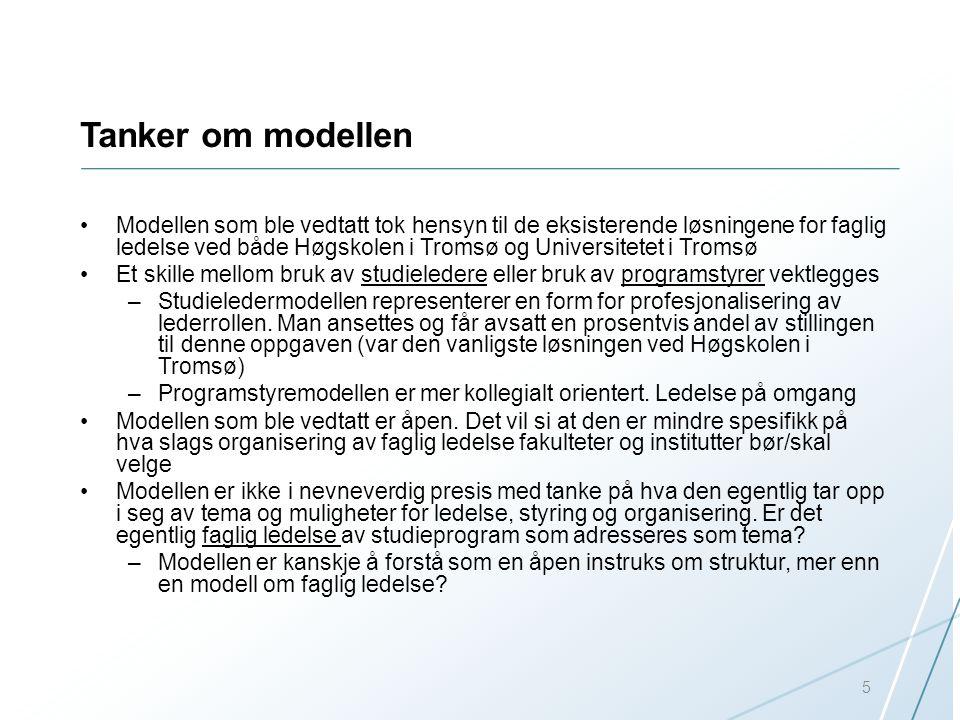 Tanker om modellen