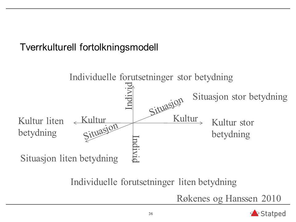 Tverrkulturell fortolkningsmodell
