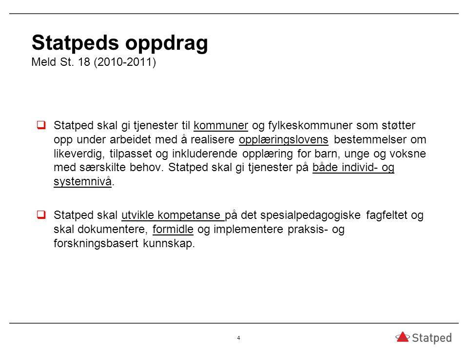 Statpeds oppdrag Meld St. 18 (2010-2011)
