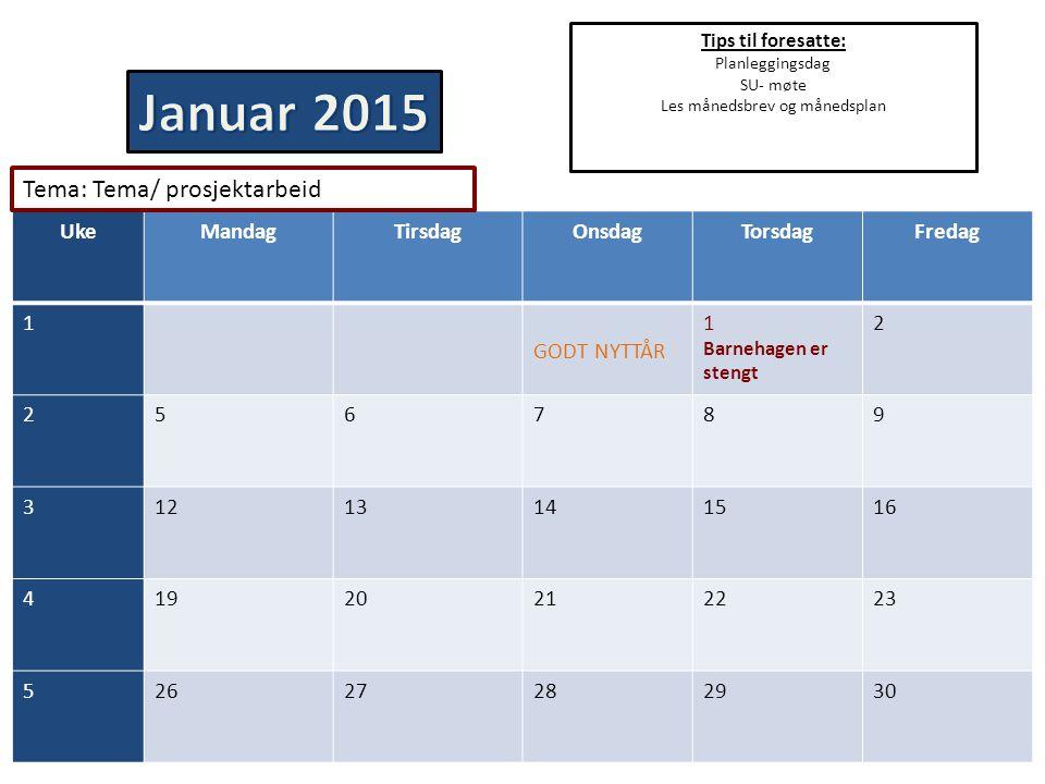 Les månedsbrev og månedsplan