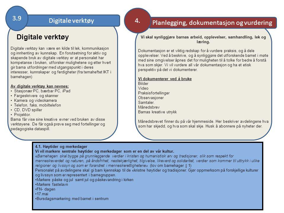 Planlegging, dokumentasjon og vurdering