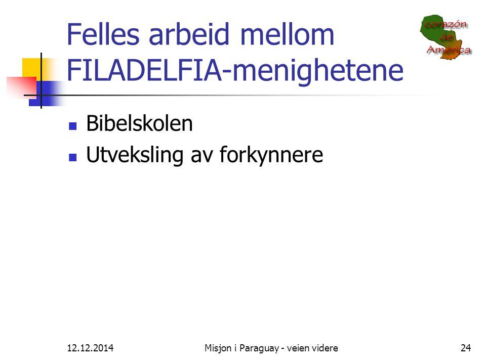 Felles arbeid mellom FILADELFIA-menighetene