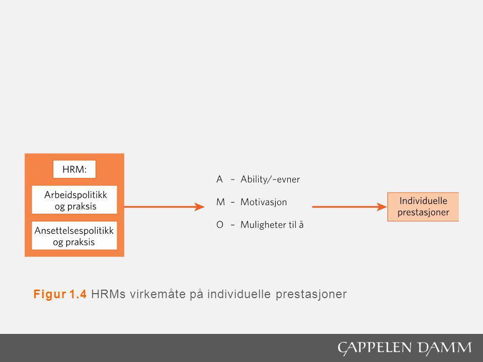 Figur 1.4 HRMs virkemåte på individuelle prestasjoner