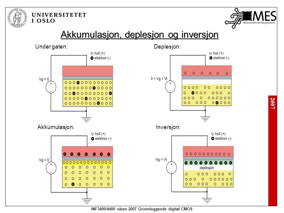 Akkumulasjon, deplesjon og inversjon