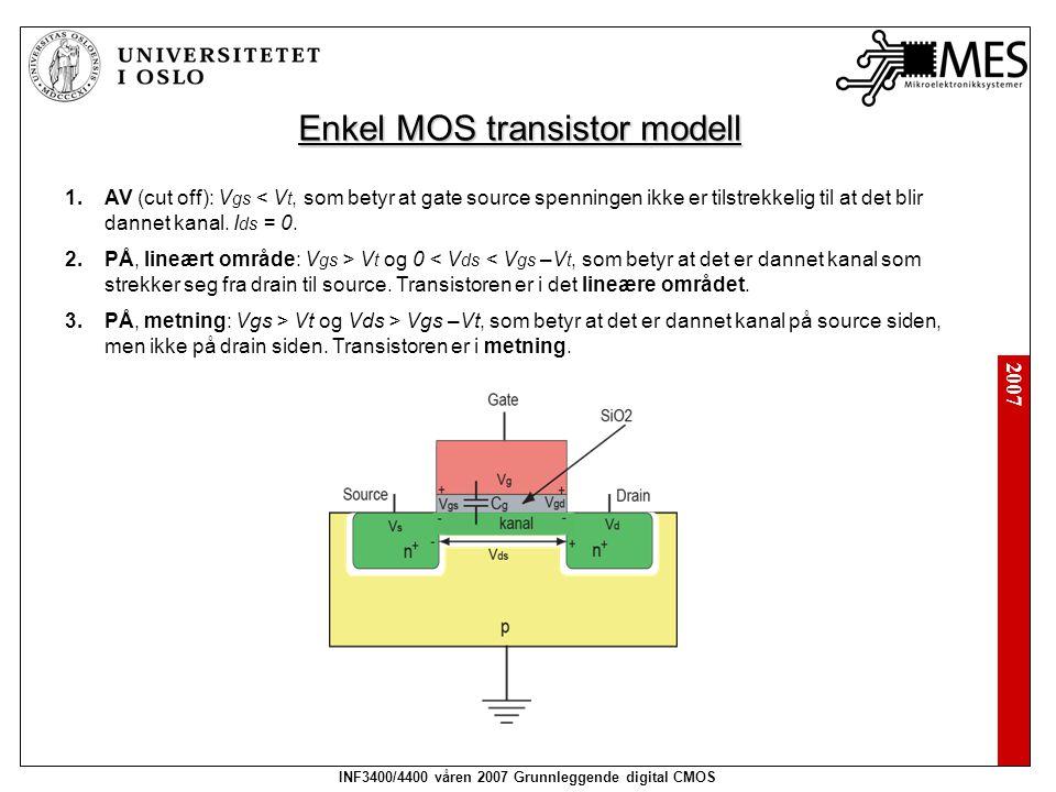 Enkel MOS transistor modell