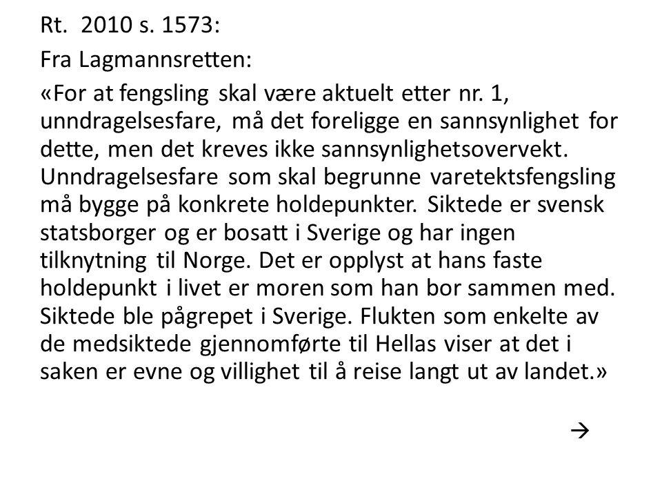 Rt. 2010 s. 1573: Fra Lagmannsretten:
