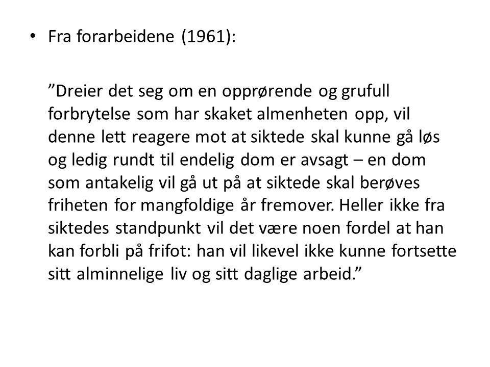 Fra forarbeidene (1961):