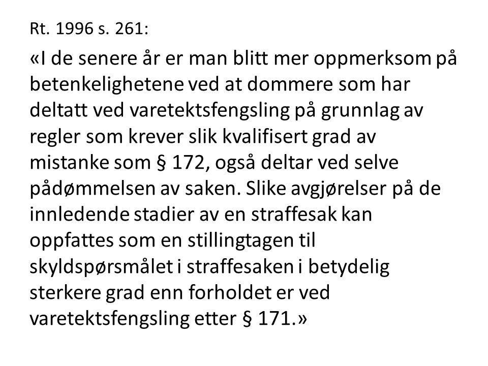 Rt. 1996 s. 261: