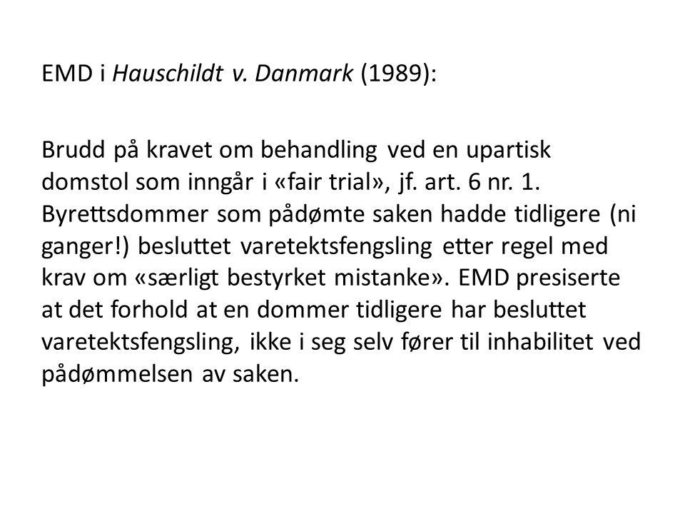 EMD i Hauschildt v.