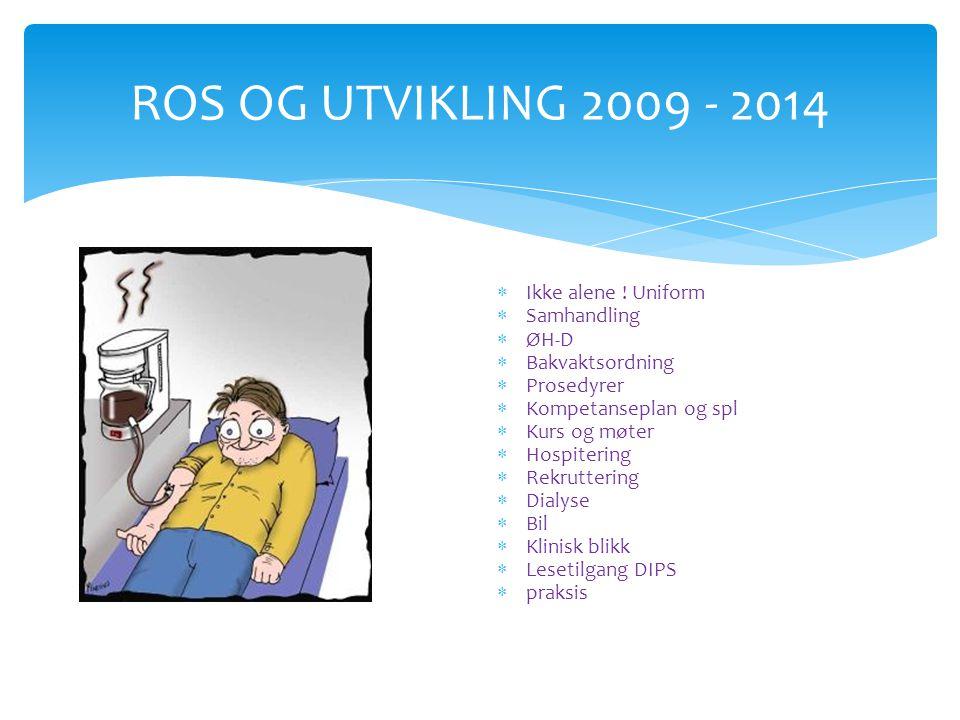 ROS OG UTVIKLING 2009 - 2014 Ikke alene ! Uniform Samhandling ØH-D