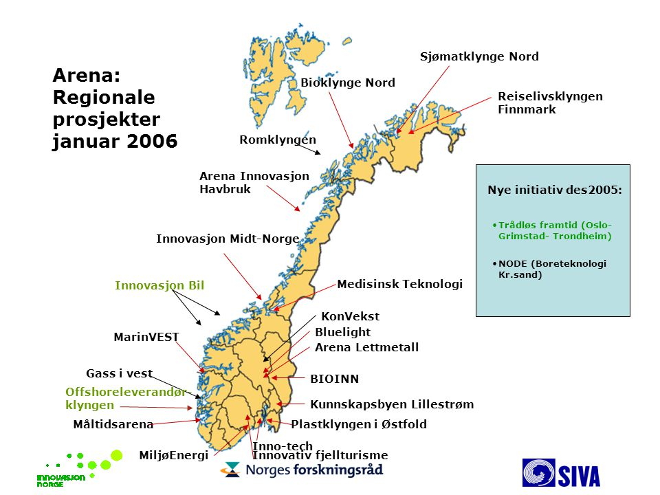 Arena: Regionale prosjekter januar 2006 Sjømatklynge Nord