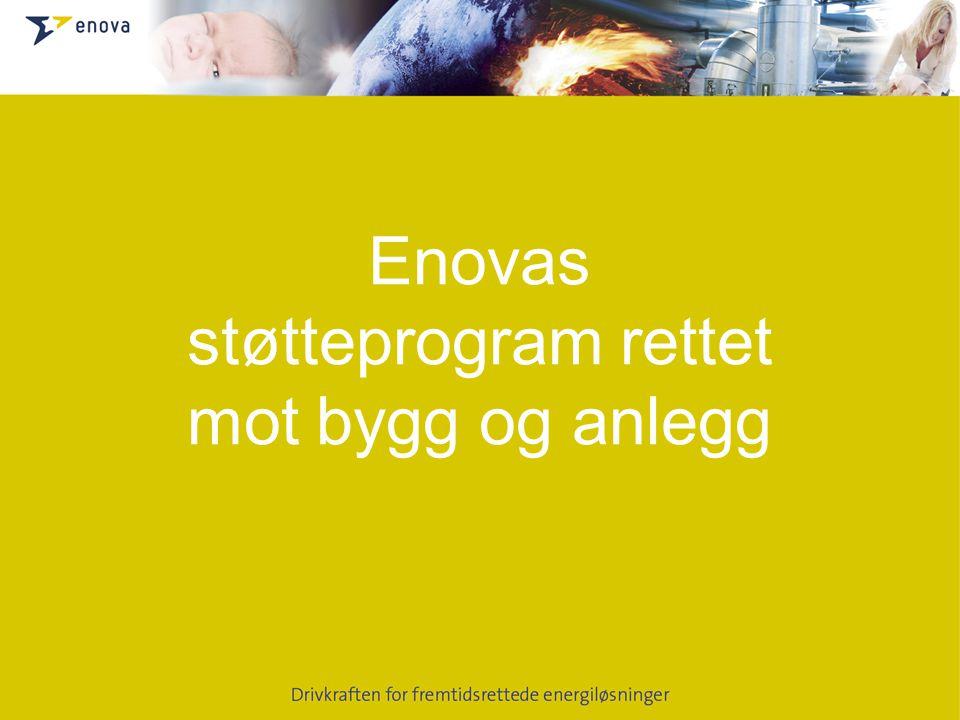 Enovas støtteprogram rettet mot bygg og anlegg