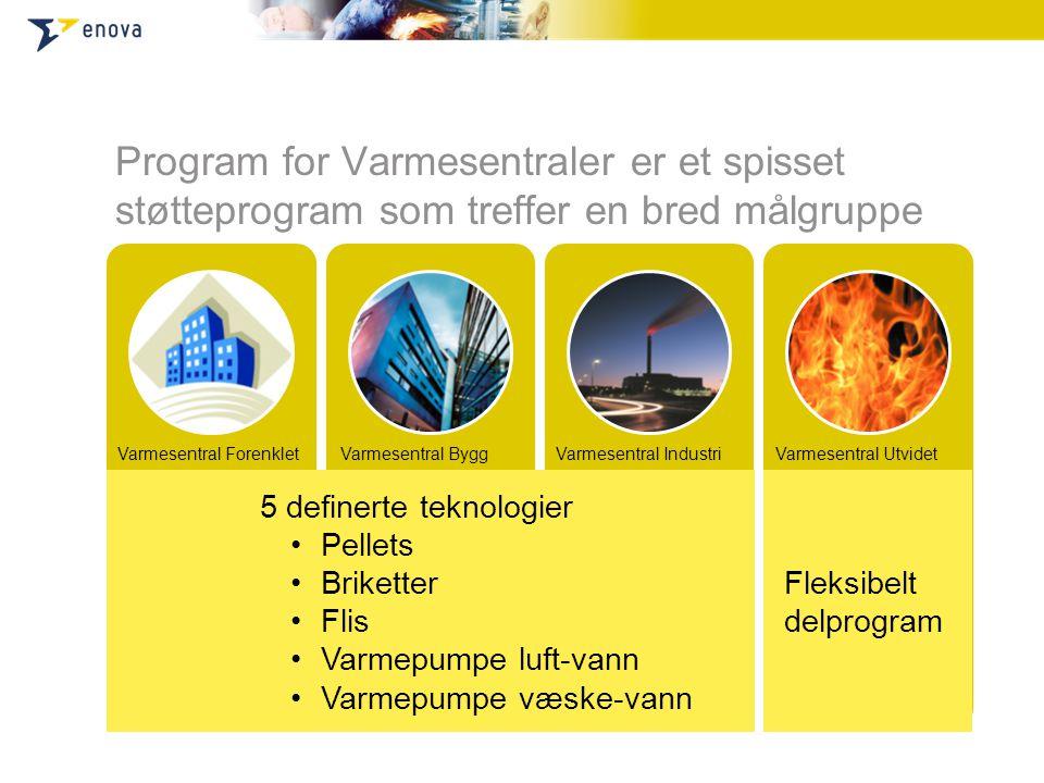 Program for Varmesentraler er et spisset støtteprogram som treffer en bred målgruppe