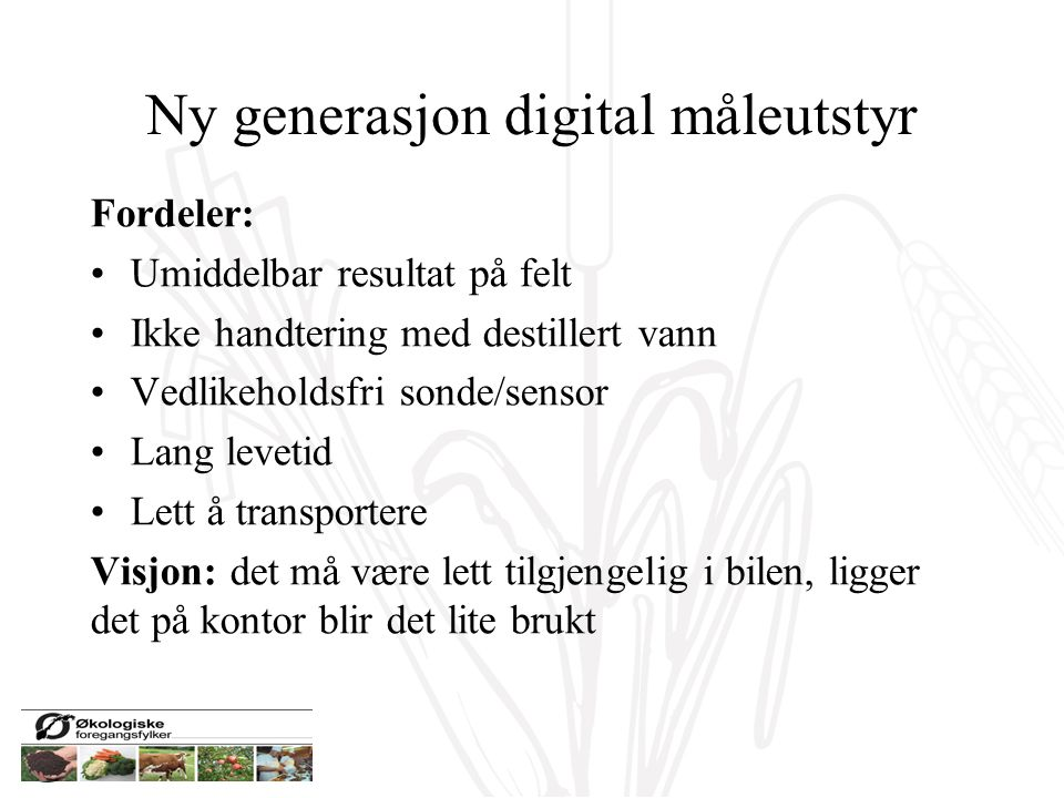 Ny generasjon digital måleutstyr