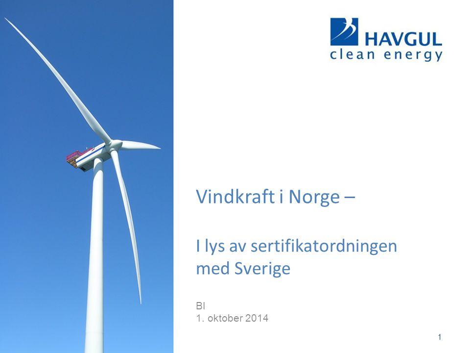 Vindkraft i Norge – I lys av sertifikatordningen med Sverige
