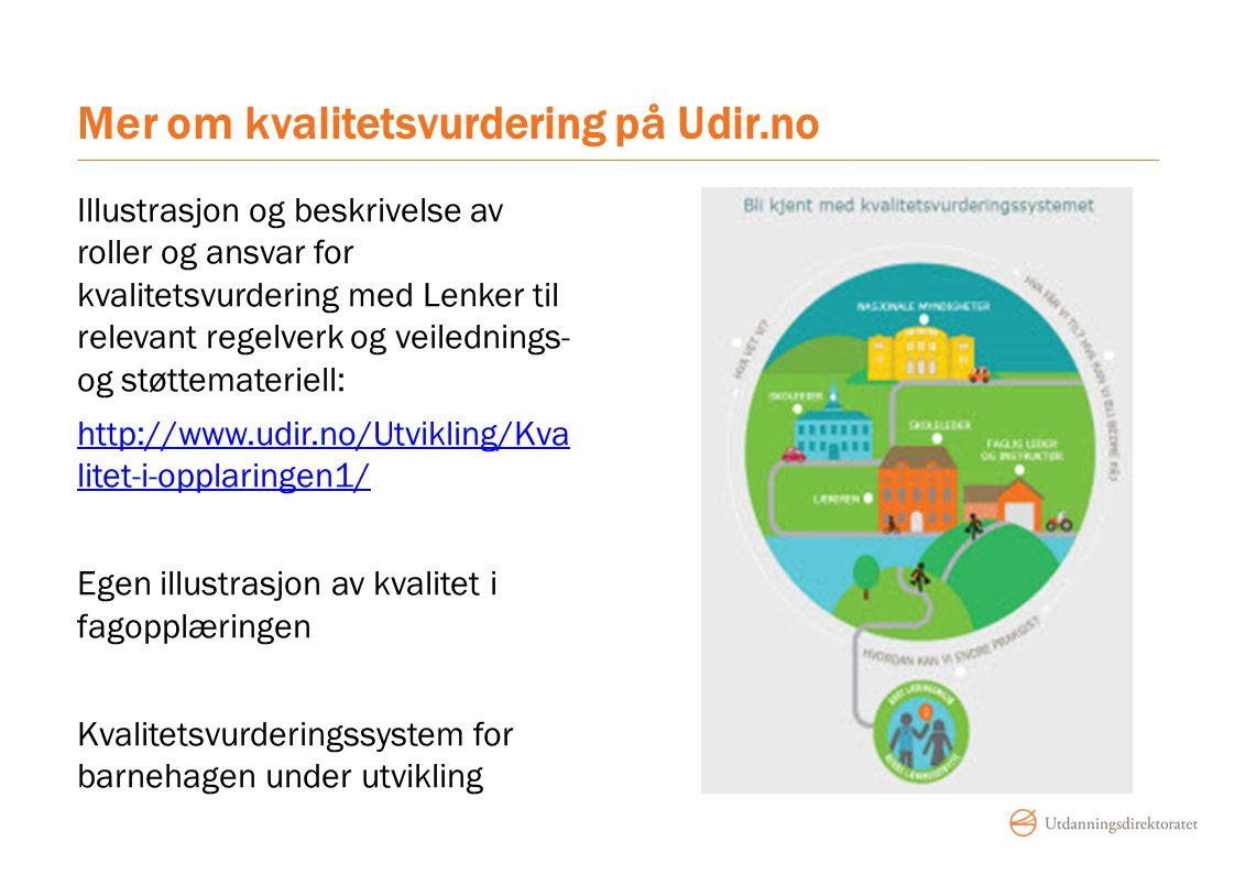 Mer om kvalitetsvurdering på Udir.no