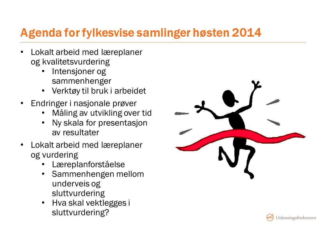 Agenda for fylkesvise samlinger høsten 2014