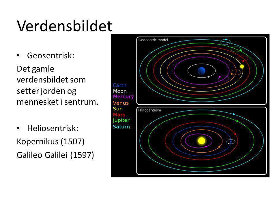 Verdensbildet Geosentrisk: