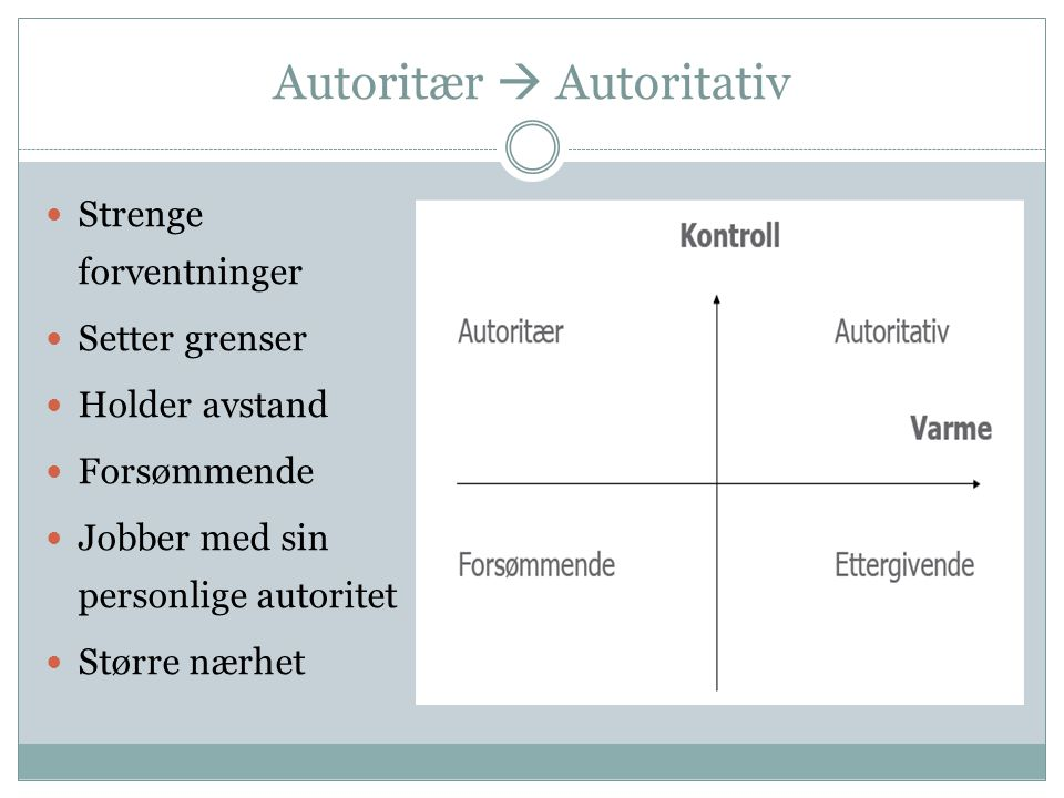 Autoritær  Autoritativ