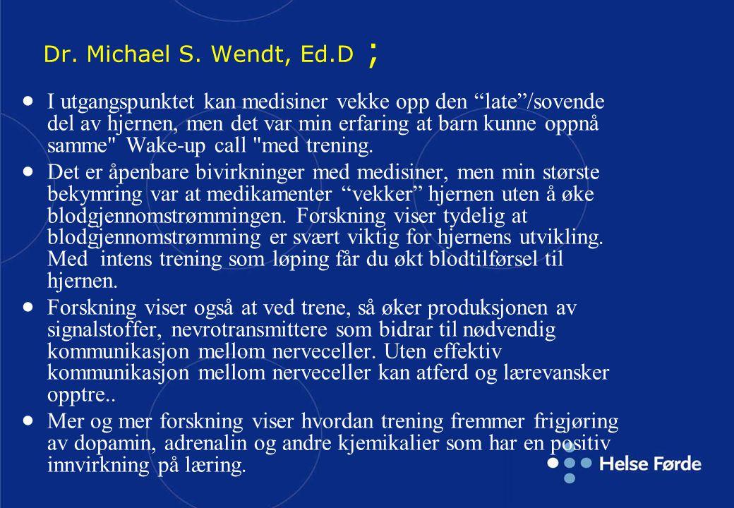 Dr. Michael S. Wendt, Ed.D ;