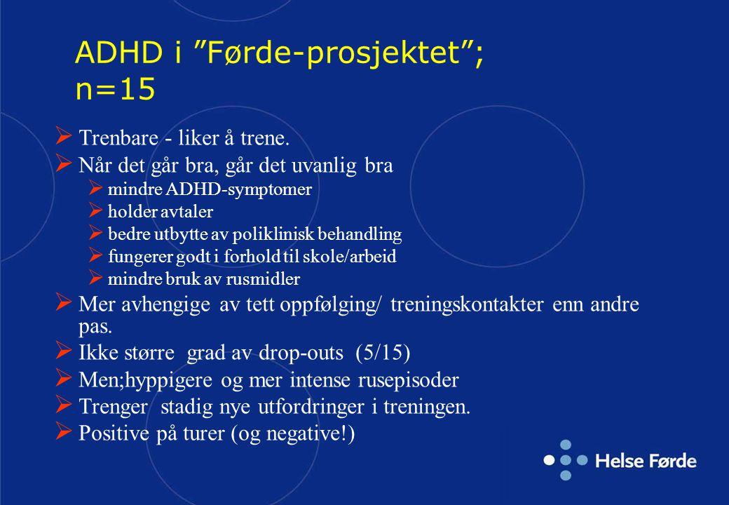 ADHD i Førde-prosjektet ; n=15