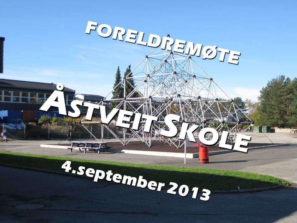 FORELDREMØTE ÅSTVEIT SKOLE 4.september 2013