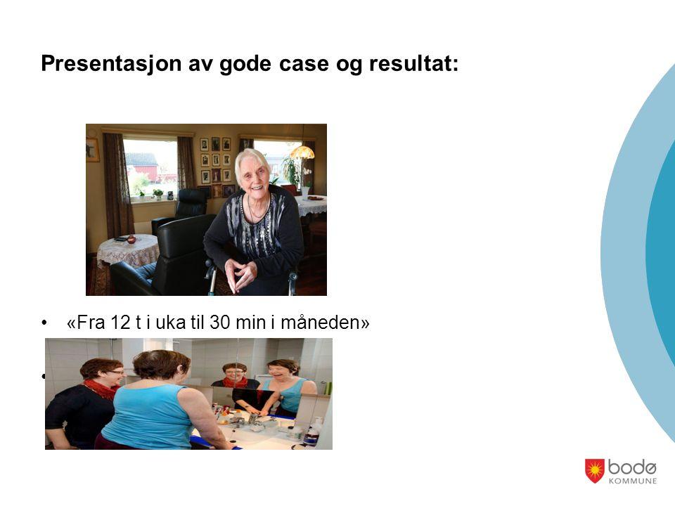 Presentasjon av gode case og resultat: