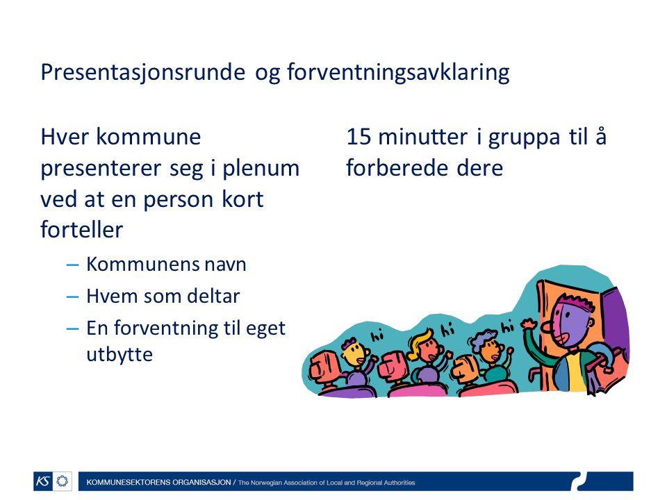 Presentasjonsrunde og forventningsavklaring