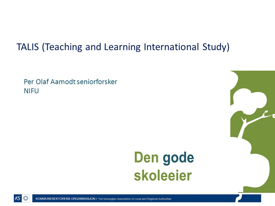 TALIS (Teaching and Learning International Study)