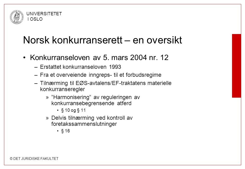 Norsk konkurranserett – en oversikt