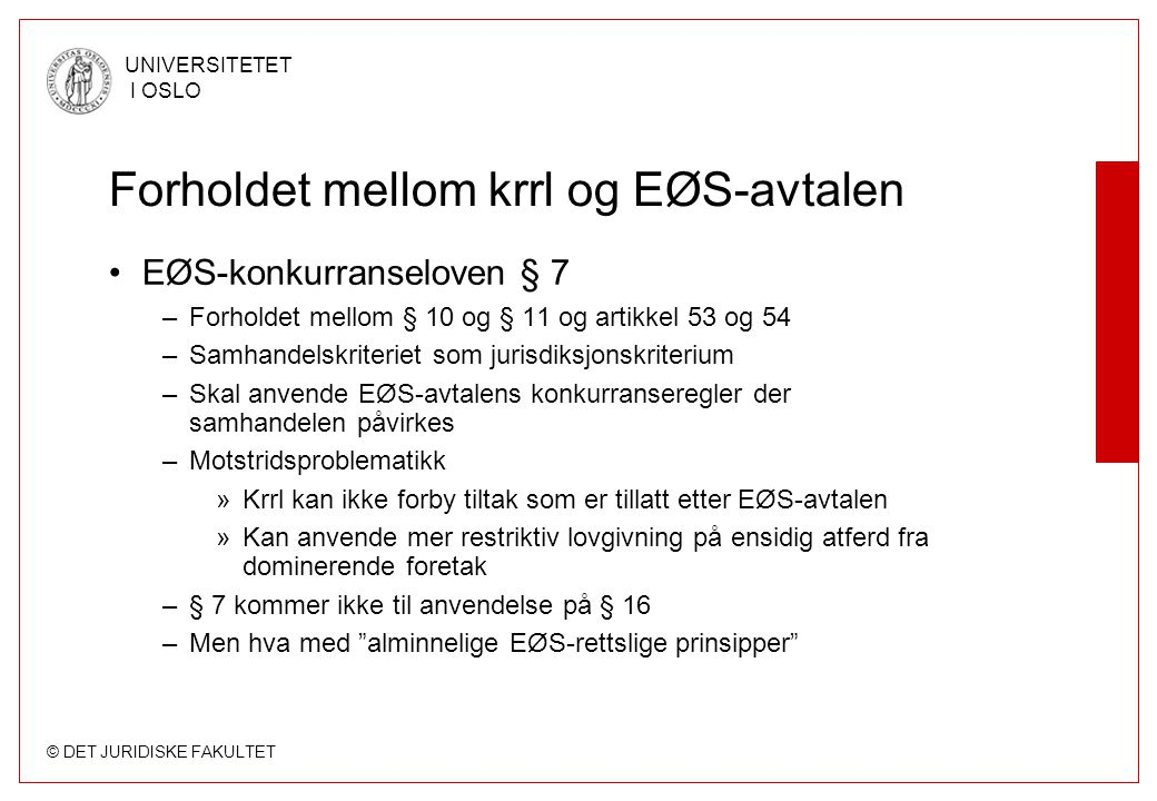 Forholdet mellom krrl og EØS-avtalen