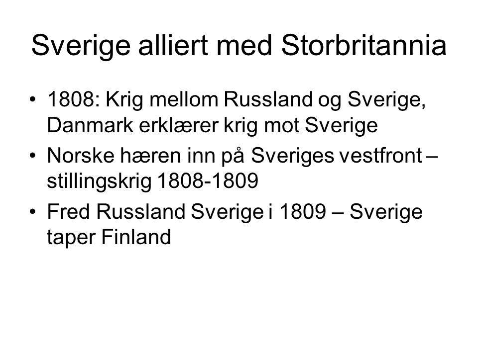 Sverige alliert med Storbritannia