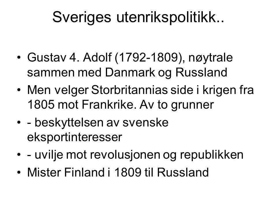 Sveriges utenrikspolitikk..