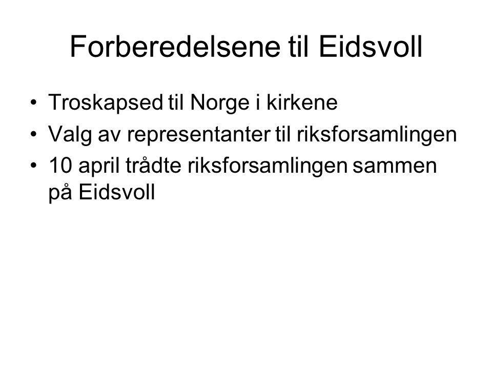 Forberedelsene til Eidsvoll