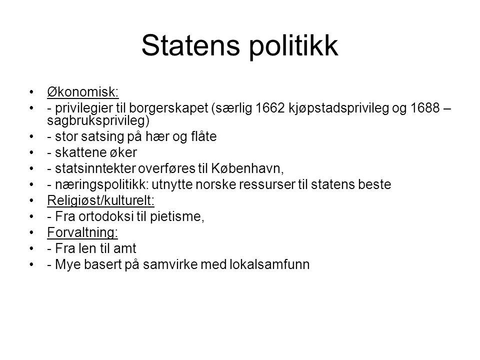 Statens politikk Økonomisk: