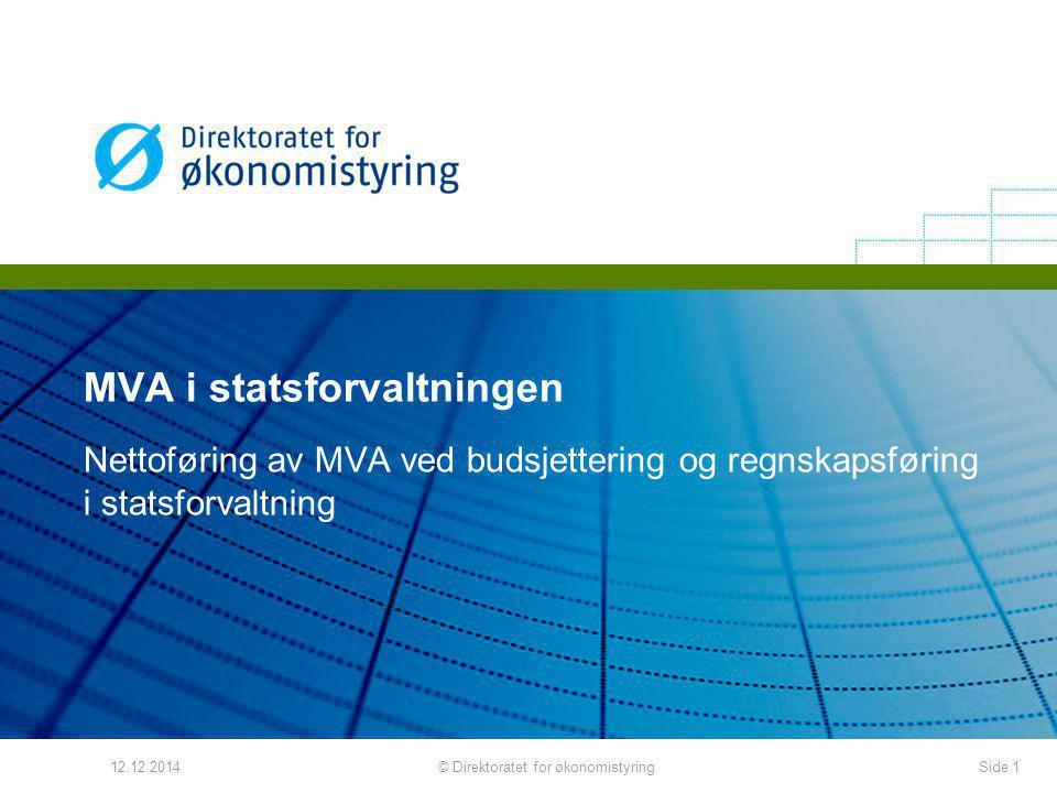 MVA i statsforvaltningen