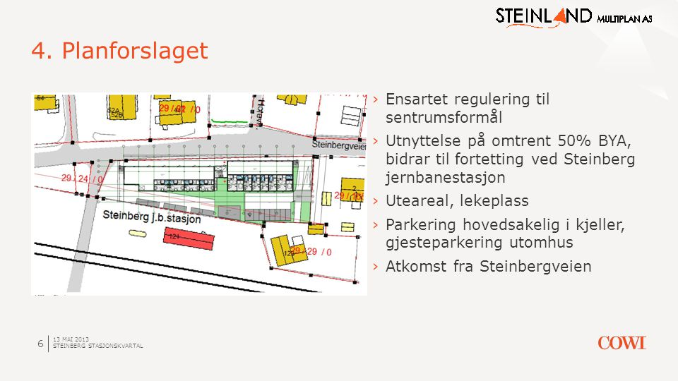 4. Planforslaget Ensartet regulering til sentrumsformål