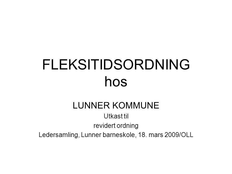 FLEKSITIDSORDNING hos