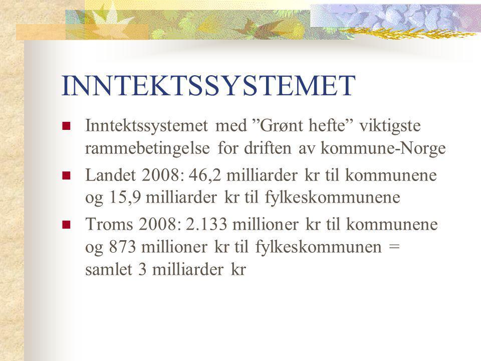 INNTEKTSSYSTEMET Inntektssystemet med Grønt hefte viktigste rammebetingelse for driften av kommune-Norge.