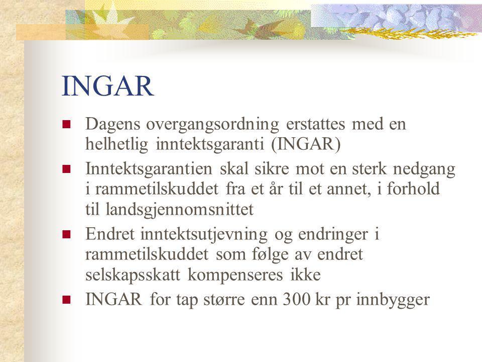 INGAR Dagens overgangsordning erstattes med en helhetlig inntektsgaranti (INGAR)