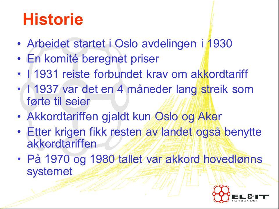 Historie Arbeidet startet i Oslo avdelingen i 1930