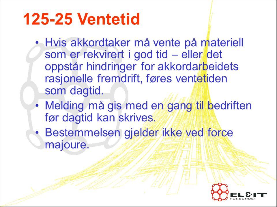 125-25 Ventetid