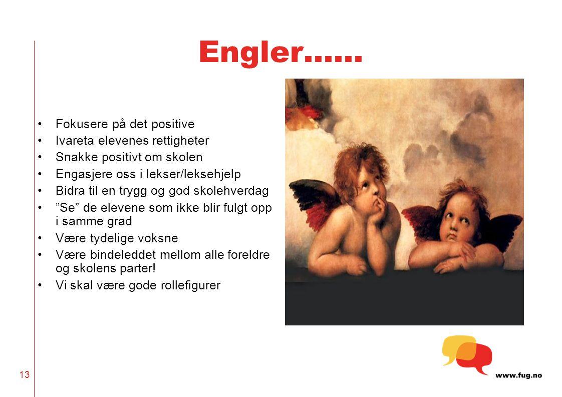 Engler…… Fokusere på det positive Ivareta elevenes rettigheter