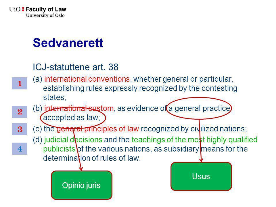 Sedvanerett ICJ-statuttene art. 38