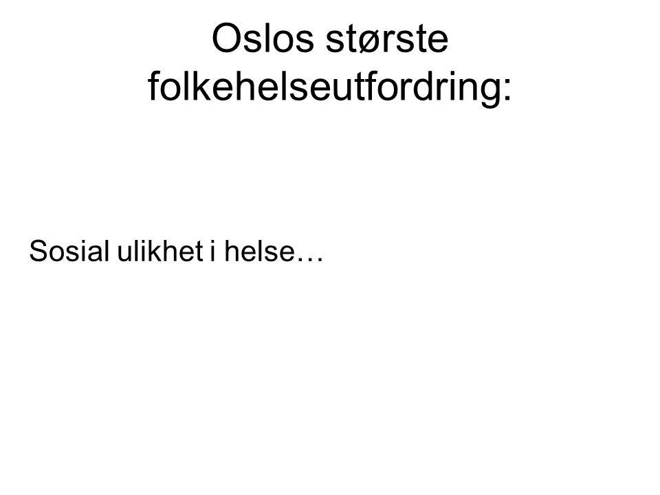 Oslos største folkehelseutfordring: