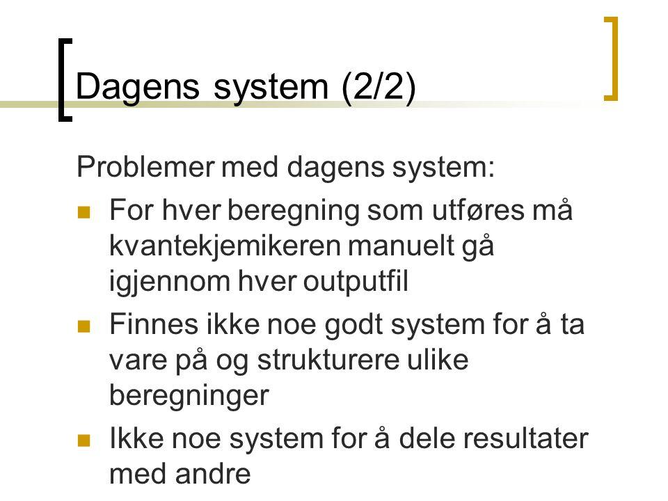 Dagens system (2/2) Problemer med dagens system: